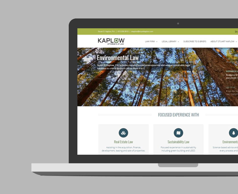Stuart Kaplow: Real Estate Law Firm Identity & Website
